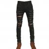 กางเกงยีนส์Saint Laurent Distressed Chain Jeans 1:1