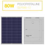 แผงโซล่าเซลล์ Solar Cell 80W Poly