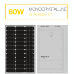 แผงโซล่าเซลล์ Solar Cell 60W Mono