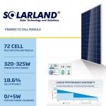 แผงโซล่าเซลล์ Solar Cell 320W Poly (SolarLand)