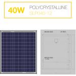 แผงโซล่าเซลล์ Solar Cell 40W Poly