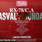PG 1/60 RX-78/C.A CASVAL S GUNDAM EXF VER.