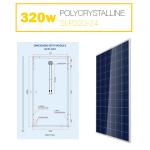 แผงโซล่าเซลล์ Solar Cell 320W Poly