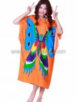 ชุดนอนเกาหลี ชุดนอนลายผีเสื้อส้ม