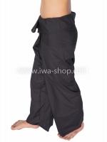 กางเกงเล กางเกงชายหาด ผ้าโทเร สีดำ