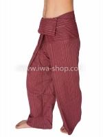 กางเกงเล กางเกงโยคะ ผ้าสลาฟ สีเลือดนก