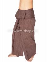 กางเกงเล กางเกงโยคะ ผ้าสลาฟ สีเน้ำตาล