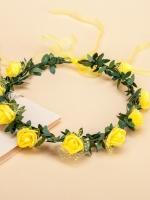 มงกุฎดอกไม้ ฮาวาย เหลือง