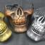 หน้ากาก กะโหลกครึ่งหน้า Cacique Skull สีทองแดง thumbnail 2