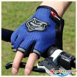 ถุงมือตัดนิ้ว สีน้ำเงิน