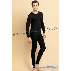 ชุดลองจอห์นชาย สีดำ Size F , L , XL