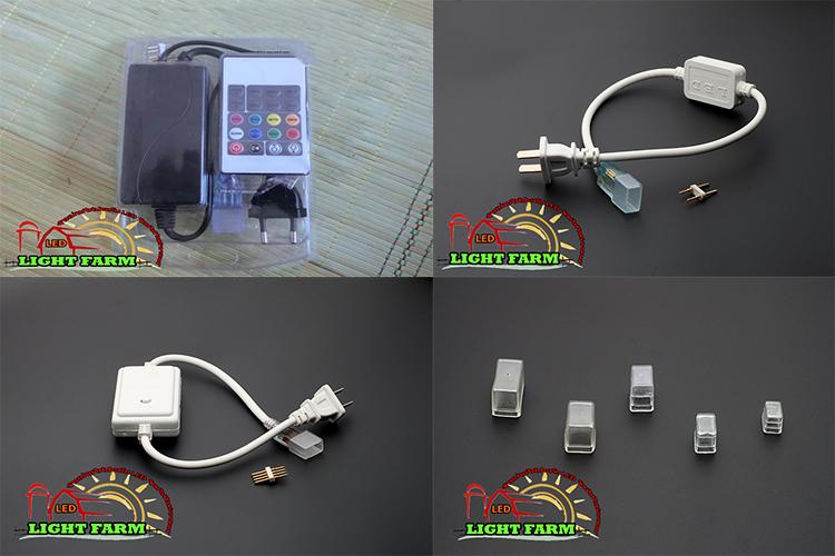 อุปกรณ์ต่อไฟสายยาง SMD 5050 (ท่อแบน)