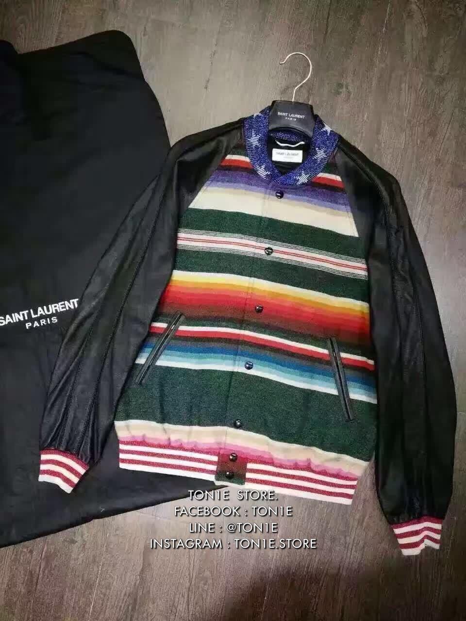 เสื้อแจ็คเก็ตSAINT LAURENT-Dinosaur Bomber Jacket (Engraved grade 1:1)