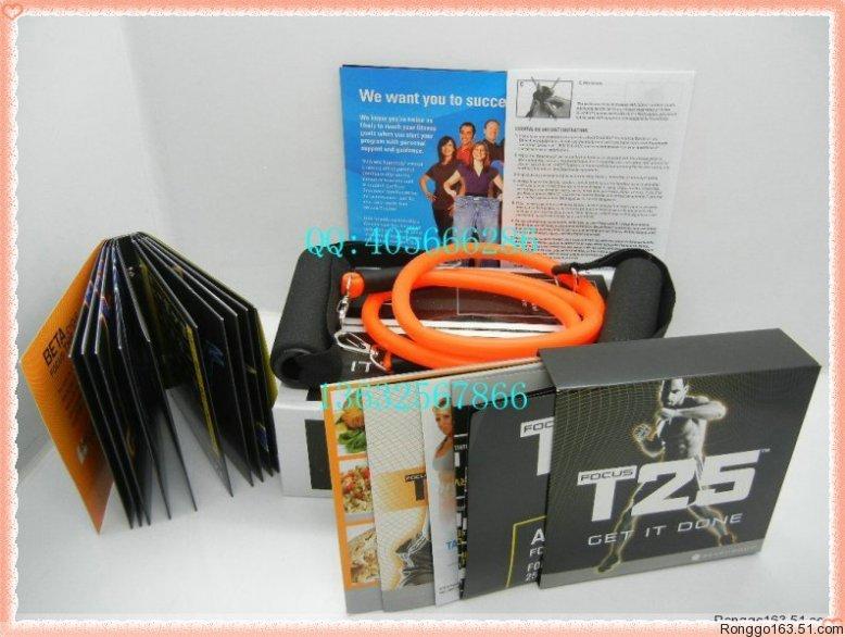 (พร้อมส่ง) T25 Focus DVD 10 แผ่น(ของแท้ อุปกรณ์ครบชุด) ฟรีสายยางยืด