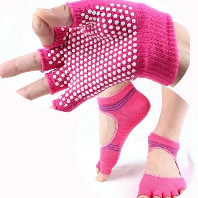 (พร้อมส่ง) YKSM30-8 ถุงมือ ถุงเท้าโยคะ กันลื่น
