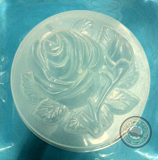 พิมพ์วุ้นปอนด์ ลายดอกกุหลาบเดี่ยว วงกลม >_< 20 cm
