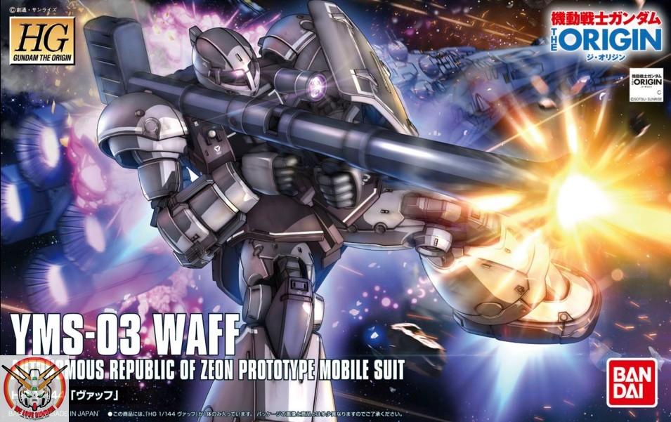 HG 1/144 YMS-03 WAFF [Gundam The ORIGIN]