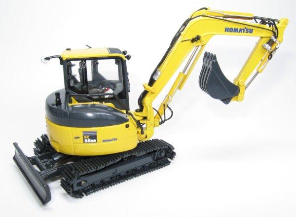 โมเดลรถก่อสร้าง Komatsu PC88 Excavator 1:50