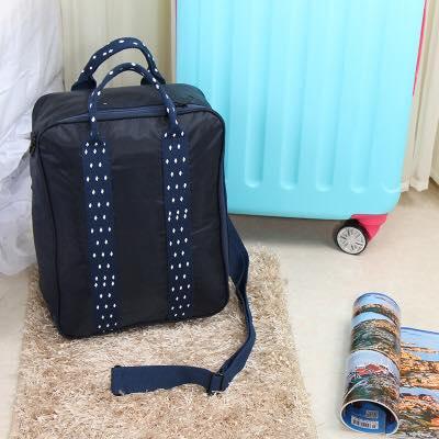 กระเป๋าสะพาย หิ้วขึ้นเครื่องได้ รุ่น 1 (สีน้ำเงินกรมท่า)