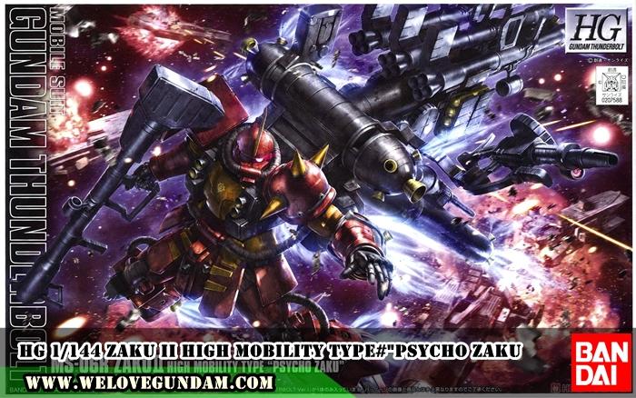 """HG 1/144 ZAKU II HIGH MOBILITY TYPE#""""PSYCHO ZAKU""""(GUNDAM THUNDERBOLT VER.)"""