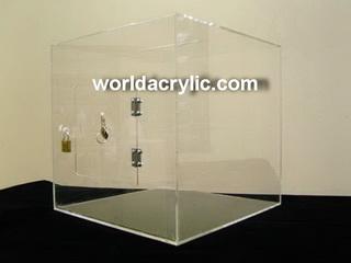 กล่องรับบริจาค อะครีลิคใส ขนาด 30x30x30 ซม.