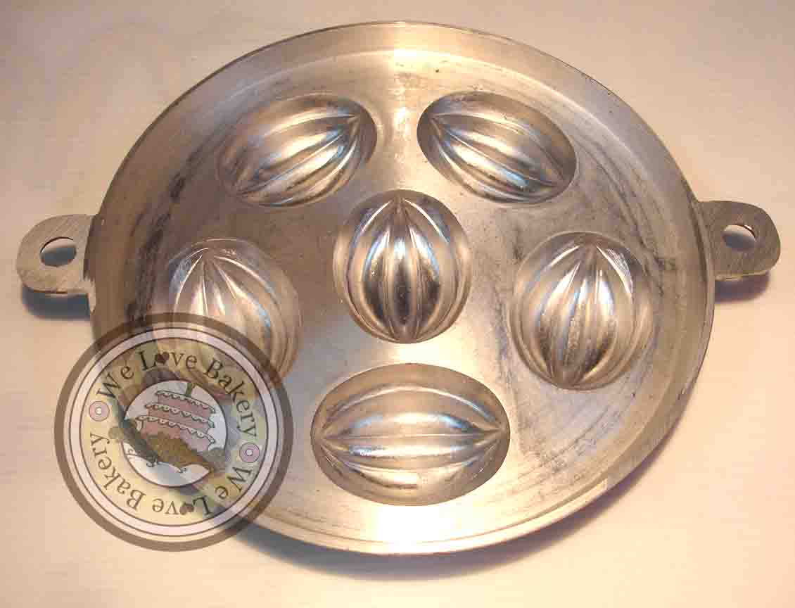 พิมพ์ขนมไข่ อลูมิเนียม 7 นิ้ว แบบ 2 (ลายมะเฟือง)