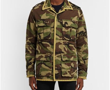 เสื้อแจ็คเก็ต Saint Laurent Camouflage Jacket 1:1