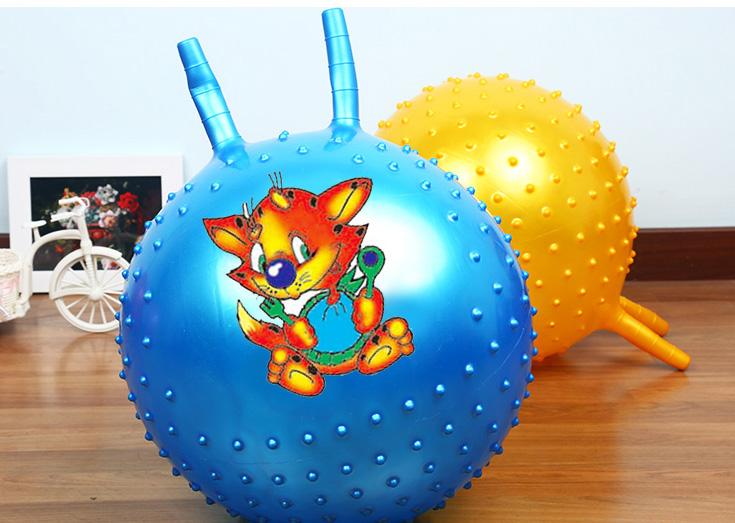 (พร้อมส่ง) YK1069-2 ลูกบอลเด้งดึ๋ง แบบมีหูกระต่าย ผิวหนาม ขนาด 85/65 CM