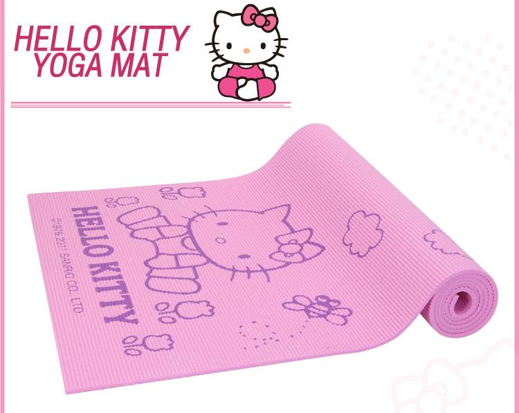 (พร้อมส่ง) เสื่อโยคะHello Kitty 6 มิล