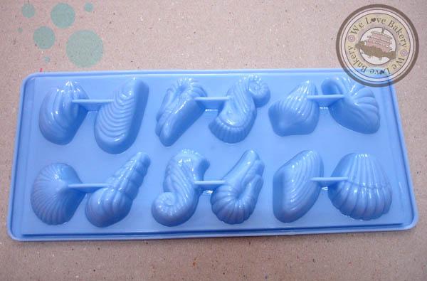 พิมพ์วุ้น ช็อคโกแลต พลาสติก ลายทะเลเล็ก 12 ช่อง