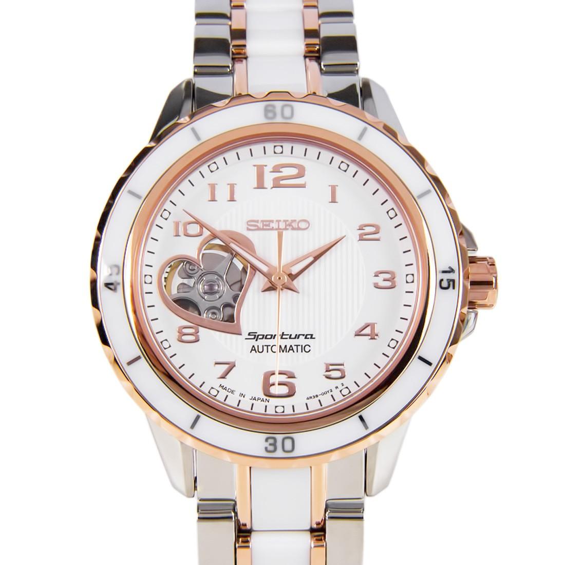 นาฬิกา Seiko ผู้หญิง Seiko Women Seiko Sportura Automatic Ceramic Women's Watch SSA884J1
