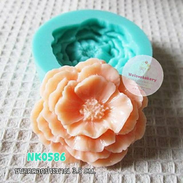 พิมพ์ยางซิลิโคน 3D ลาย ดอกไม้ Peony