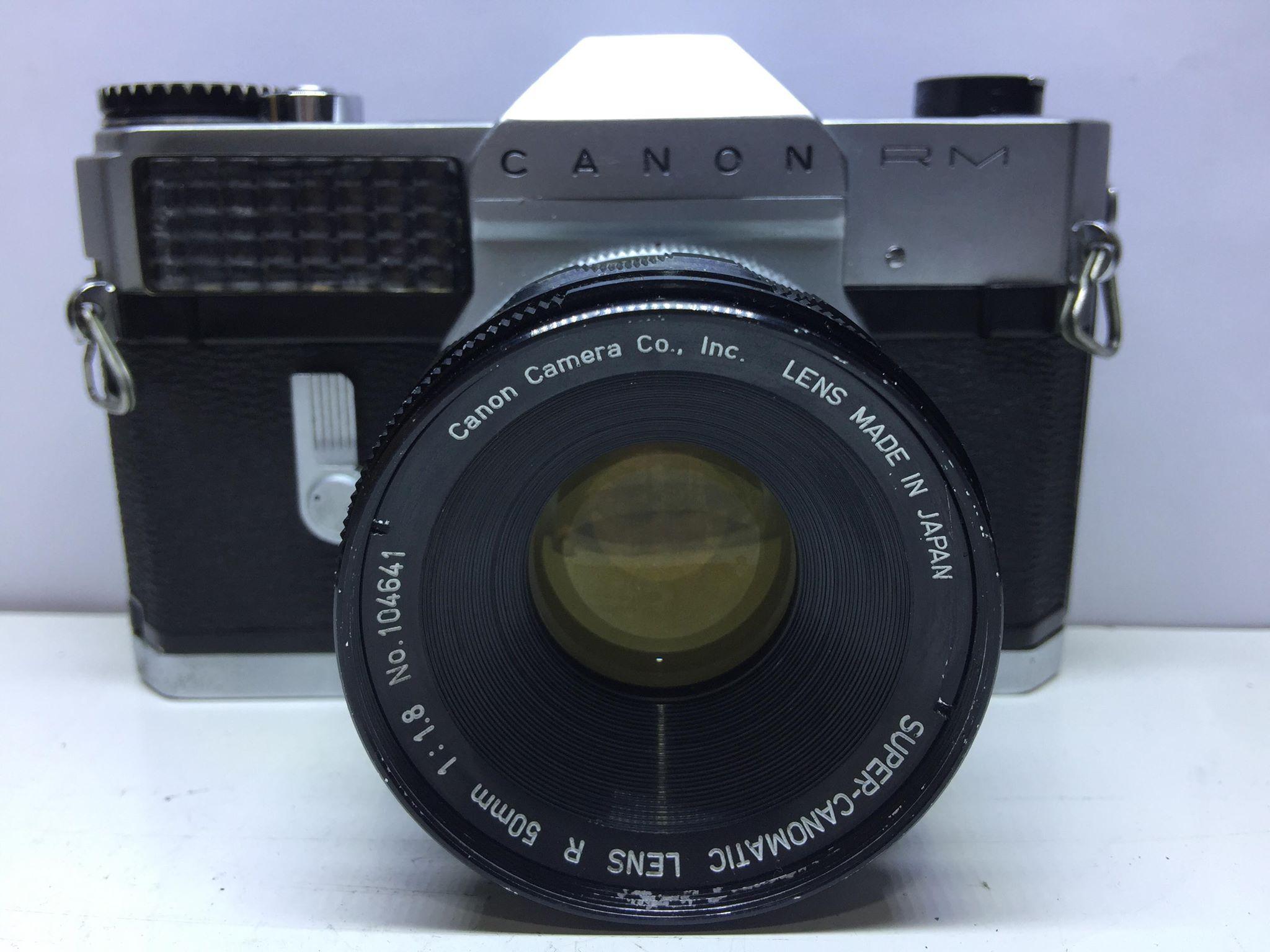 CANON CANOFLEX RM SUPER-CANONMATIC LENS R 50MM.F1.8