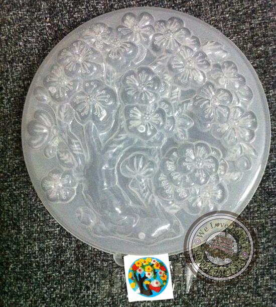 พิมพ์วุ้นปอนด์ ลาย ดอกไม้ (เบอร์ 29 ) 20 cm สำเนา