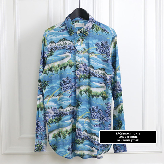 เสื้อเชิ้ตSaint Laurent Hawaii Printed Viscose Shirt