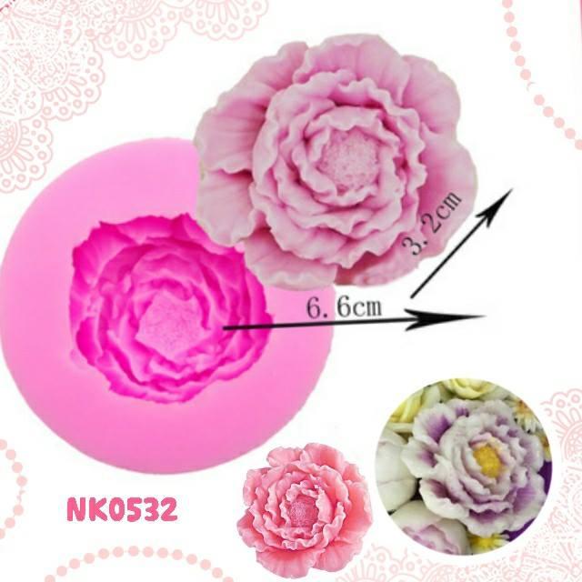 พิมพ์ยางซิลิโคน 3D ลายดอกไม้ดอกใหญ่