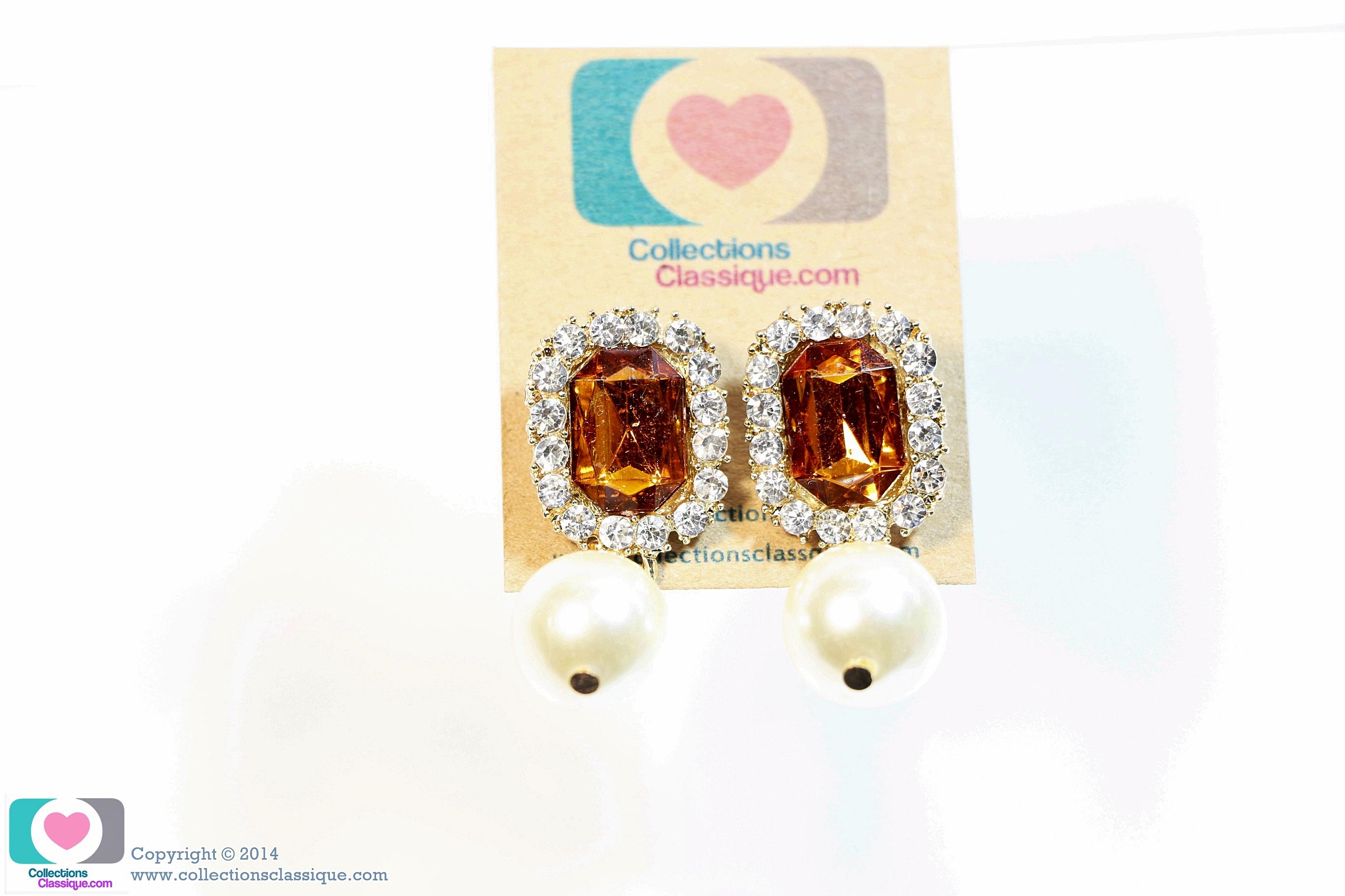 E149010 Diamond Earring ต่างหูเพชร