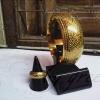 กำไลถมทอง ลายไทยก้านขด หน้ากว้าง 2.5 cm. แบบสวม แหวนถมทอง หน้ากว้าง 8 mm. งานสั่งทำ โดยเครื่องถมนคร by green