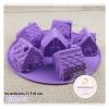 พิมพ์ยางซิลิโคน รูปบ้าน 3D 6 ช่อง