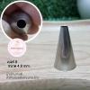 หัวบีบครีม/หัวบีบเกาหลี เบอร์ 8 (Round tip)