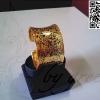 กำไลแอ่น ถมทอง ลายดอกพุดตาน หน้ากว้าง 3.5 cm.งานลูกค้าสั่งทำ โดย เครื่องถมนคร by green