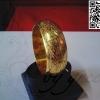 กำไลล็อคถมทอง 2.5 cm. ลายดอกบัว งานลูกค้าสั่งทำ โดย เครื่องถมนคร by green