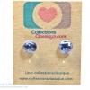 ต่างหูพลาสติก,ต่างหูก้านพลาสติก,ต่างหูเด็ก E29034 The Light Blue Gems