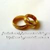 แหวนถมทอง หน้ากว้าง 5 mm.งานสั่งทำเป็นคู่ ลูกค้า สั่งไปเป็นแหวนหมั้น โดย เครื่องถมนคร by green
