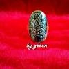 แหวนถมทองหน้ากว้าง 2.2*3.2 cm โดย เครื่องถมนคร by green