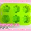 พิมพ์ยางซิลิโคน ดอกไม้คละลาย น่ารักๆ 6 ช่อง (คละสี)