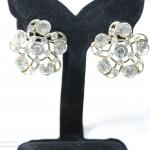 E119004 The Diamond Flowers ต่างหูแฟชั่นราคาถูก