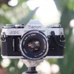 CANON AE-1 CANON LENS FD 50MM.F1.8 SILVER NOSE