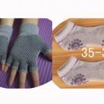 (พร้อมส่ง) YKSM30-80 ถุงมือ ถุงเท้าโยคะ กันลื่น
