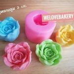 พิมพ์ยางซิลิโคน 3D ลาย ดอกกุหลาบตูม